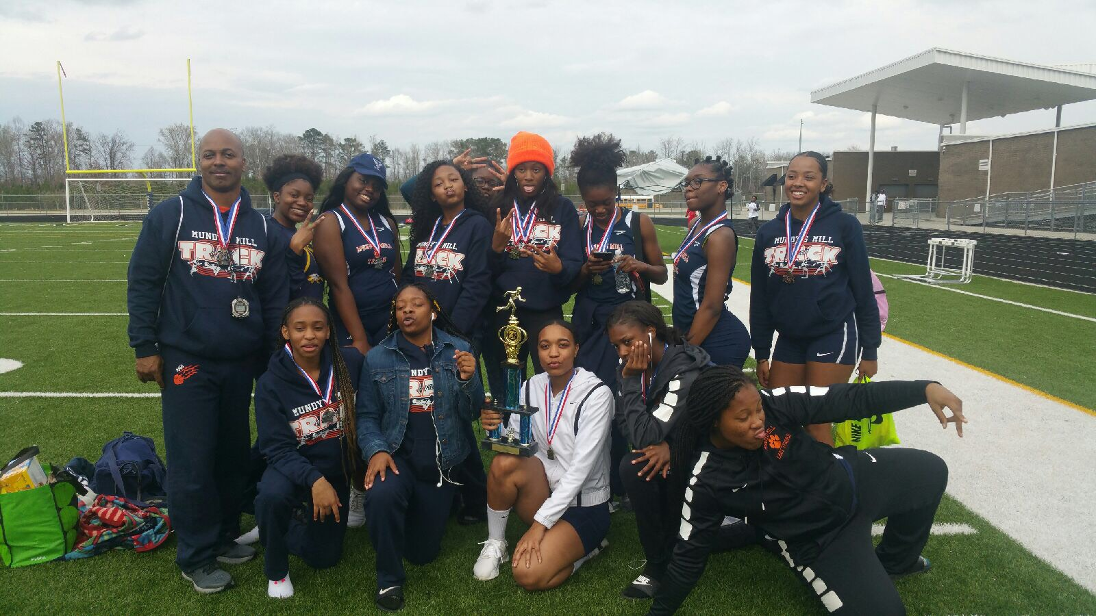 Track Team Places 2nd
