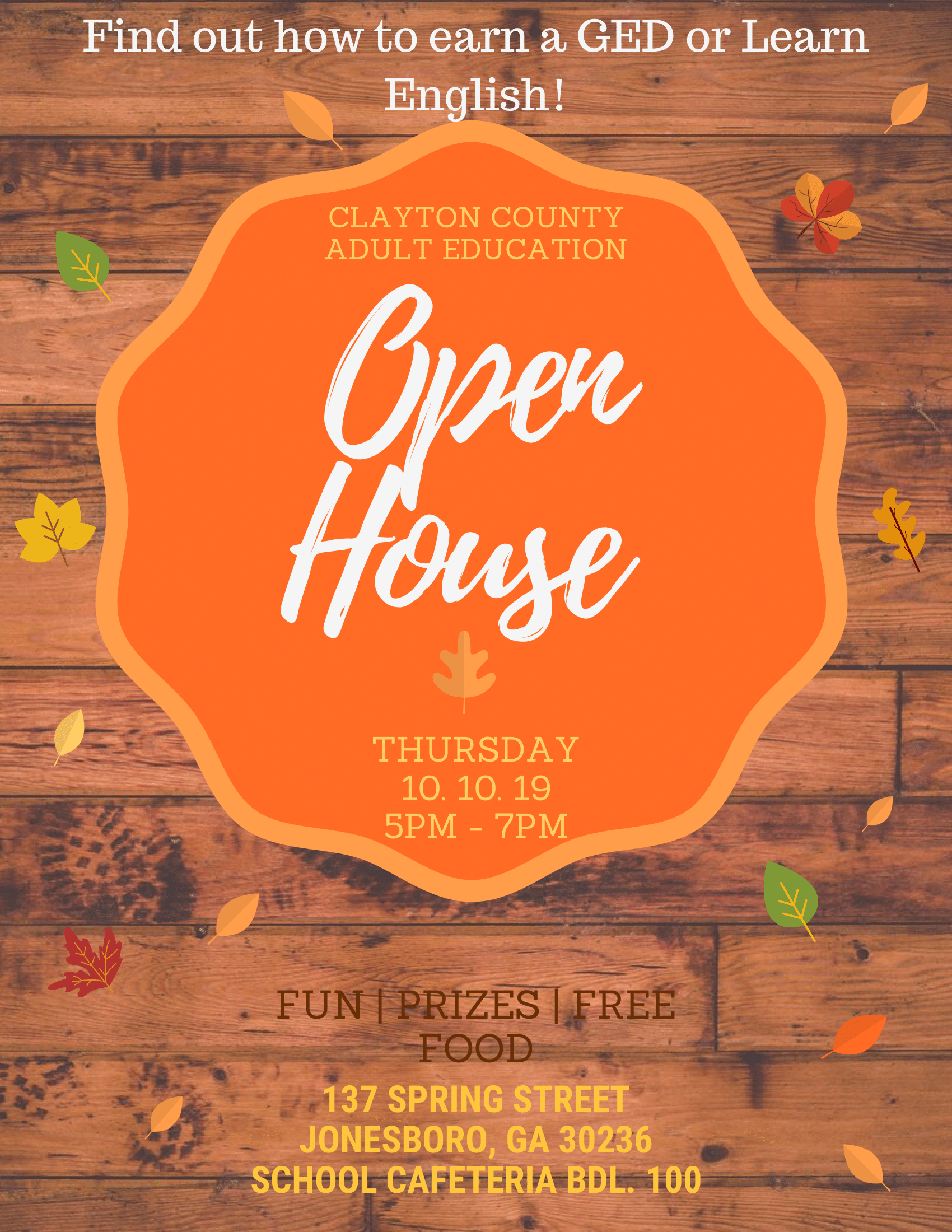 CCPS Adult Education Open House