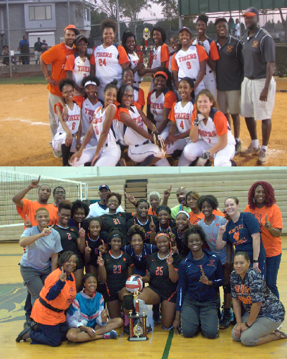 This is the image for the news article titled Both Volleyball and Softball win Region and Qualify for State