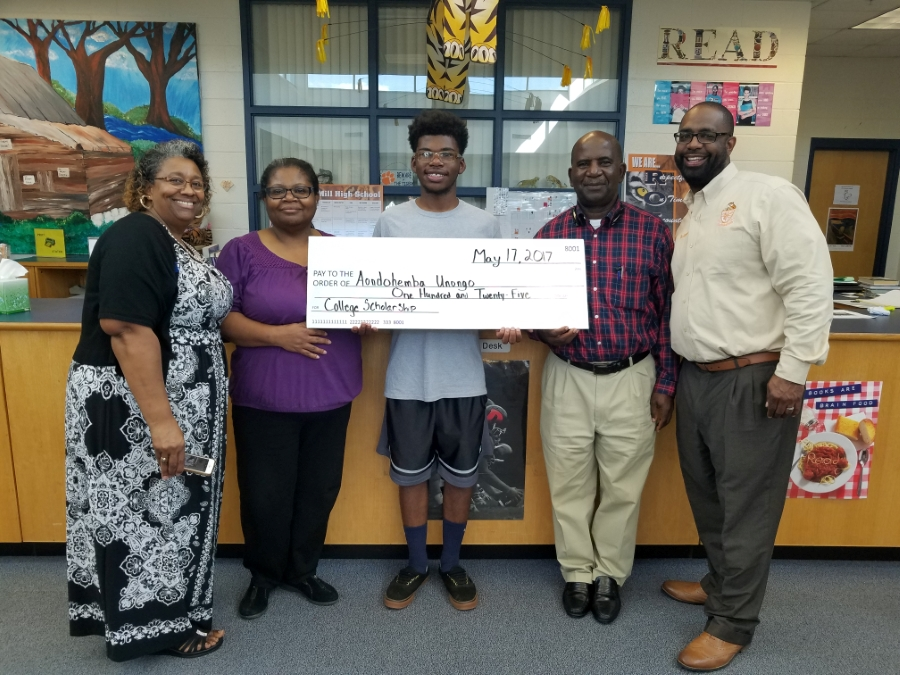This is the image for the news article titled Aondohemba Unongo PTSA Scholarship winner