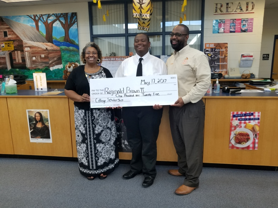 Reginald Brown II PTSA Scholarship winner